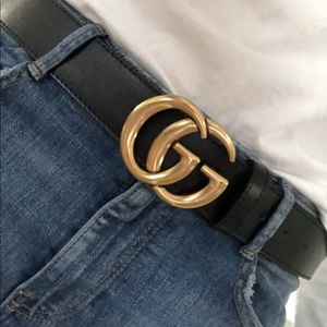 New with box gold and black designer belt
